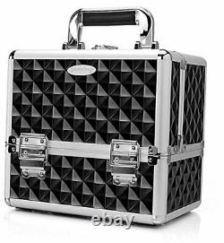Makeup storage box train case portable 10 inch large and 8 inch small nail