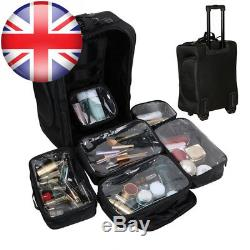 Malayas Nylon Wheeled Soft-Sided Makeup Trolley Artist Cosmetic Train Case