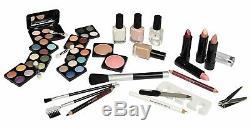 Maletín de Maquillaje de Belleza Viaje con Accesorios 58 Piezas Cosmeticos New