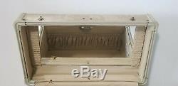 Minty VINTAGE SAMSONITE MAKE UP TRAVEL TRAIN CASE Mirror Lock Key EUC