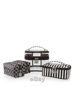 NEW Henri Bendel Cosmetic Bag 4 Piece Travel Set Train Case Centennial Stripe