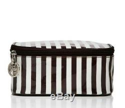 NEW Henri Bendel Original Cosmetic Bag Box Centennial Stripe Small Train Case