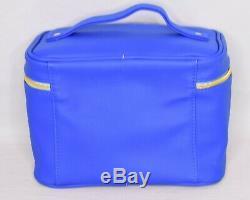 NEW Jeffree Star Dark Blue Train Case Make Up Bag Cosmetic Zip Around Bag