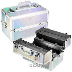 NEW RARE Sephora FROSTED LIGHT Large Train Case holographic NEW WITH TAGS