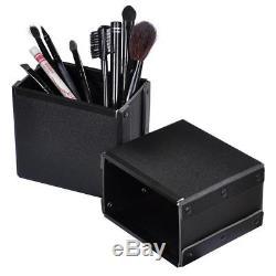 NEW! Studio Salon Makeup Train Case Cosmetic Rolling Oragnizer Table LED Light
