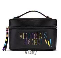 NEW Victoria's Secret Patch Train Case And Makeup Bag 2 Pieces