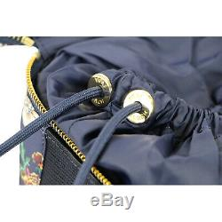 NIB Tory Burch Happy Times Tidal Cosmetic Train Case Bag Navy