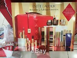 NWT 2019 Estee Lauder Blockbuster Holiday Make Up Gift Set Train Case Warm