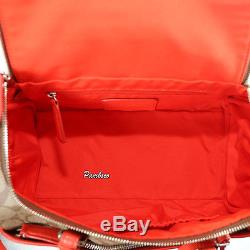 NWT Coach Signature Canvas Train Travel Cosmetic Makeup Case F77510 Coral RARE