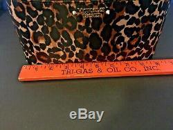 NWT! VICTORIA'S SECRET Leopard Print Weekender Train Case PURSE MAKEUP BAG TOTE