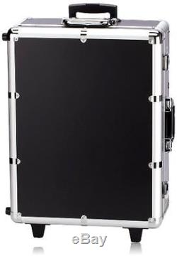 NYX Makeup Artist Train Case With Lights, Extra Large Black/Silver New Open Box