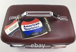 New Old Stock! American Tourister Train Case Cross Country 1500 Hard Cosmetic