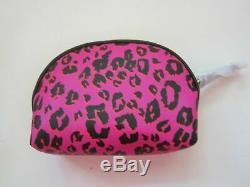 Nwt Victoria's Secret 5pcs Travel Set Train Case Cosmetics Clutch 3 Makeup Bag