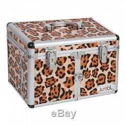 (ORIGINAL PRINT LEOPARD) JUMBL Leopard Print Cosmetic/Jewellery Train Case