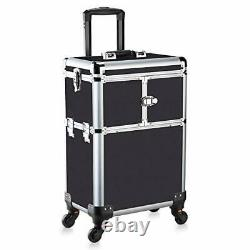 OUDMAY by Amazon Makeup Train Case Professional Rolling Cosmetic Storage