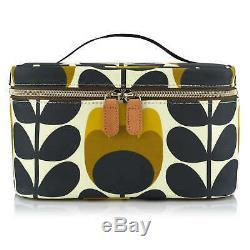 Orla Kiely Tulip Stem Train Case Wash Bag Make up Bag