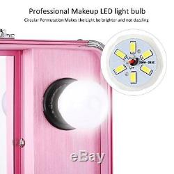 Ovonni Led Makeup Train Case Lighted Rolling Travel
