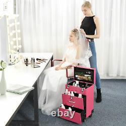 PRE-SALES AW Pro Nail Polish Organizer Large Makeup Train Case Rolling Makeup