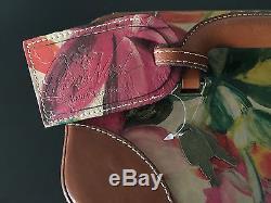 Patricia Nash Travel Vintage Patch Paradiso Tan Train Makeup Luggage Case NWOT