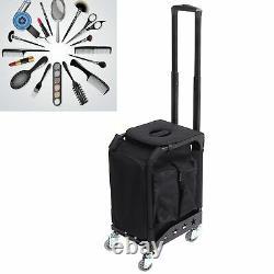 Portable Nail Polish Organizer Large Makeup Train Case Rolling Makeup Cases