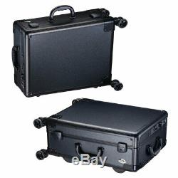 Portable Rolling Artist Studio Makeup Cosmetic Train Case Trolley With LED Mirror