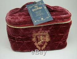Pottery Barn Teen Harry Potter Velvet Train Case Makeup Gryffindor #1937