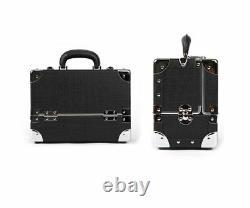 Premium Make Up Box Black Cosmetic Box Professional Makeup Train Case Size M
