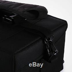 Pro Black 2in1 Soft Sided Rolling Makeup Case Cosmetic Train Bag withDrawer Artist