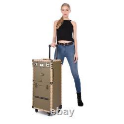 Pro Rolling Makeup Stylist Makeup Train Hair Salon Case Clipper Trimmer Storage