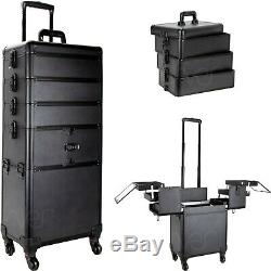 Professional 4-in-1 Rolling Makeup Train Case Organizer VT014