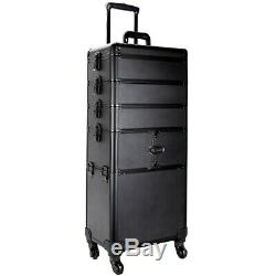 Professional Artist Cosmetic Rolling Train Makeup Case with Trays by Ver Beauty