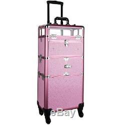 Professional Artist Makeup Train Case Cosmetic Organizer Drawers Lock and Keys