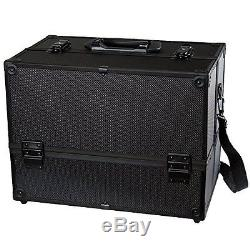 Professional Large Make Up Artist Organizer Kit Cosmetic Train Case Storage Box