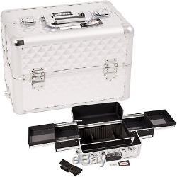 Professional Makeup Case Train Organizer Beauty Fashion Storage Lockable Sunrise