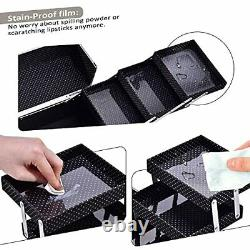 Professional Makeup Train Case Jewelry Storage Display for Women with Large