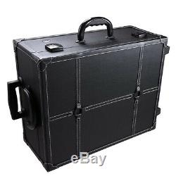 Professional Rolling Makeup Case Bulb Mirror Cosmetic Artist Dressing Train Case