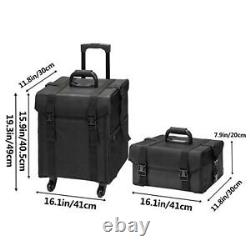 Professional Rolling Makeup Case Cosmetic Artist Salon Oxford Train Bag withDrawer