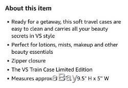RARE HTF Victoria's Secret Cosmetic Train Case Black Python Limited Edition NWT