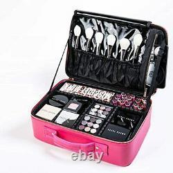 ROWNYEON Makeup Case Travel Makeup Bag Makeup Organizers Bag Makeup Train Case P