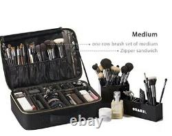 ROWNYEON Makeup Case Travel Makeup Bag Train Case Professional Portable Cosmetic