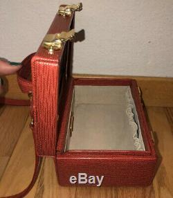 Rare FENDI Vintage Red Epi Leather Cosmetic Train Case Crossbody Bag ($2,750)