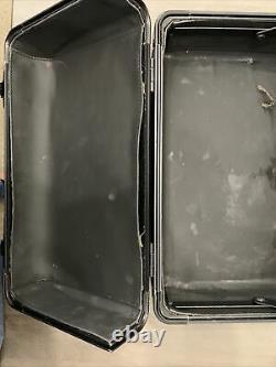 Rare MAC COSMETICS Makeup Metal Train Case black storage artist pro box