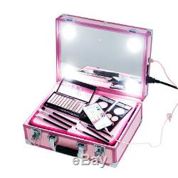 Recharge cosmetic box Aluminum Makeup Artist Train Case with LED light USB Y