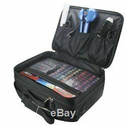Relavel 3 layer Multi -Functional Professional Makeup Train Case Super Large Mak