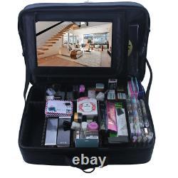 Relavel Extra Large Makeup Case Travel Makeup Train Case Professional Makeup Art