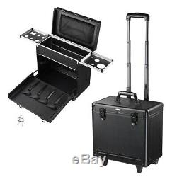 Rolling Makeup Case Cosmetic Trolley Storage Hair Salon Clipper Trimmer Box Bag