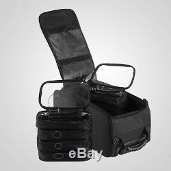 Rolling Makeup Case Train Box Cosmetic Organizer Holder Luggage Trolley Bag
