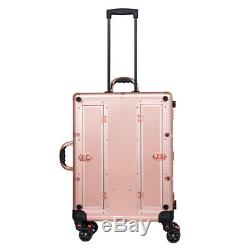 Rolling Makeup cases Makeup Artist Train Box cosmetic trolley suitcase with LED