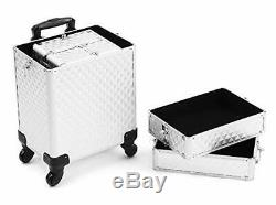 Rolling Train Case 4-in-1 Portable Professional Cosmetic Makeup Travel Case A