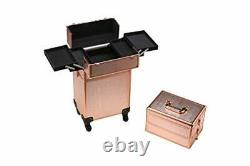 Rolling Train Case 5-in-1 Portable Makeup Train Case Professional Cosmetic Or